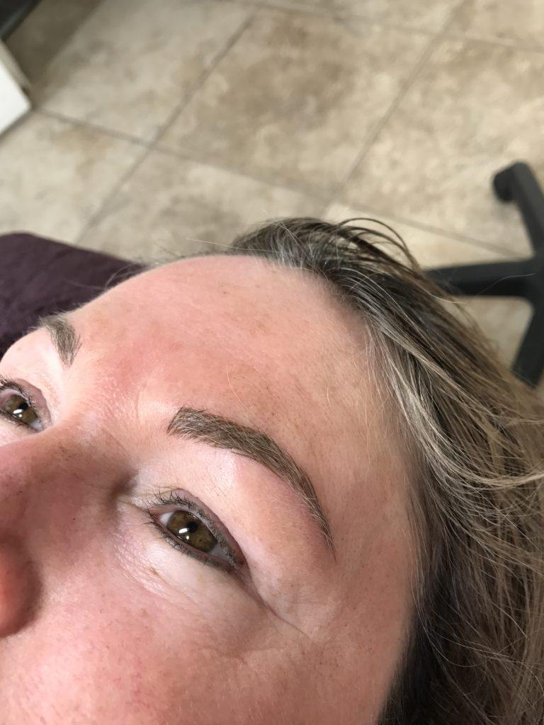 Microblade Brows Immediately After